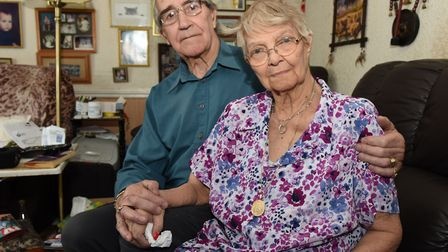 Brenda Buzer, who contracted hepatitis C from a blood transfusion, pictured with her husband Stan be