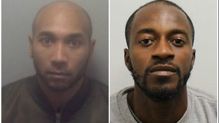 Mahesh Chaitoo, left, and Aymon Popo, have also been jailed. Picture credit: Met Police.