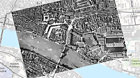 The project documents the layers of London history using an interactive map Picture: Layers of Londo