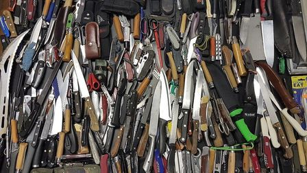 Weapons seized by Operation Sceptre in June last year. Picture: Met Police