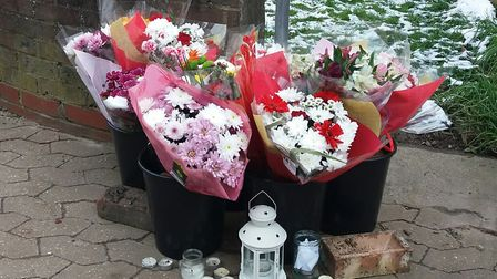 Floral tributes for Lyndon Davis who was murdered
