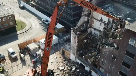 A photo from the block's demolition. Picture: Be First