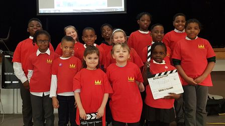 Children at the BossCrown Film and Drama School in Barking. Picture: BossCrown