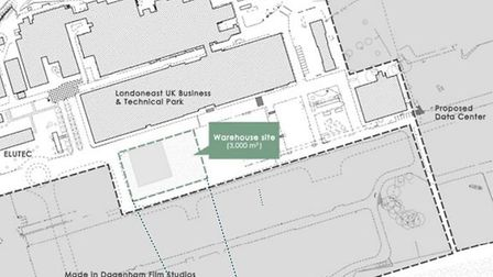 Location of the warehouse. Picture: LBBD