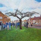 Wouter Osterholt's painting of Walnut Tree Road. Picture: Create London