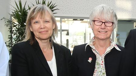 Jane Hargreaves with Evelyn Carpenter. Picture: Ellie Hopkins