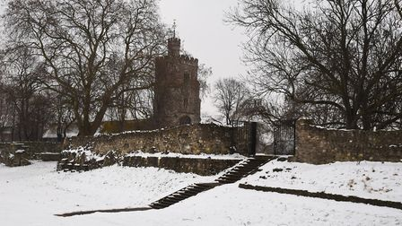 Barking's Abbey Ruins in the snow. Picture: Ken Mears