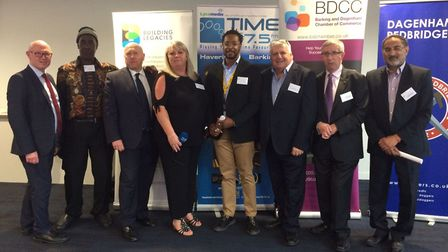 Sponsors at the launch of the Barking and Dagenham Chamber of Commerce business awards