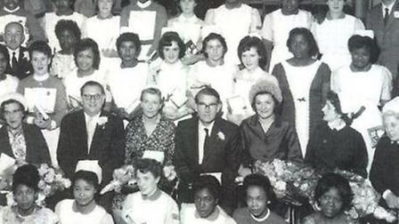 Windrush generation nurses with their NHS colleagues in 1948. Picture: NHS ENGLAND