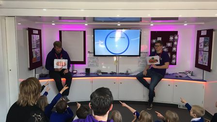 Pupils doing the workshop in Barking. Picture: The National Deaf Children's Society