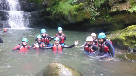 The student's mini-expedition to the Brecon Beacons last summer. Picture: LifeLine