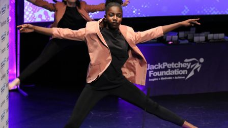 Taylor and Sade from Jo Richardson Community School danced during the first interval. Pic: JPF