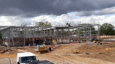 The steel framework has been built. Picture: OnSide