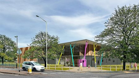 A CGI of the completed youth centre. Picture: OnSide