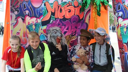 Sydney Russell School's own 'Glastonbury' festival featured, music, dance and speeches. Picture: Syd