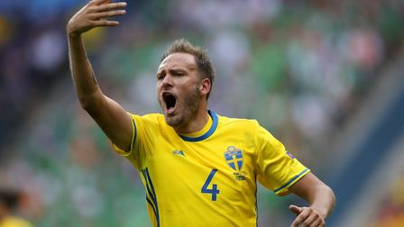 Sweden's Andreas Granqvist netted from the penalty spot against South Korea (pic John Walton/PA)