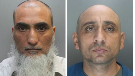 Raza Mir, left, and Muhammed Asif have both been jailed. Pic: City of London Police