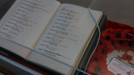 A book of remembrance at Valence House Museum. Picture: LBBD