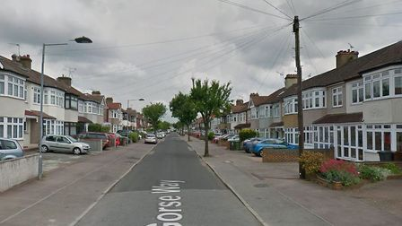 The attempted robbery took place in Gorse Way on Saturday. Picture: Google