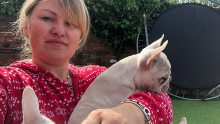 Dog breeder Izabela Yates was conned out of more than £6,000 by scammers who bought French bulldog p
