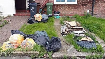 Charles Headley was fined for his eyesore garden. Pic: LBBD