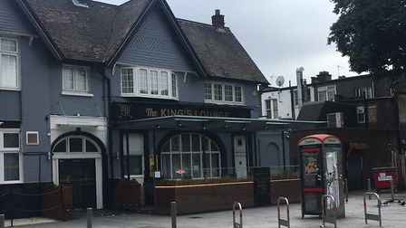 The stabbing took place near Kings Lounge in London Road. Picture: Rhiannon Long