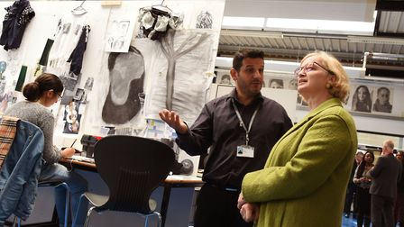 Ofsted chief inspector Amanda Spielman tours Barking and Dagenham College. Picture: Ken Mears