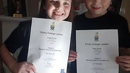 Angel and Amy Stone, who have just passed their music theatre exams and have been scouted by a US ta