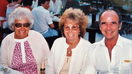 Ronald with his wife June and mother-in-law Amy Cole. Pic: The Twinley family.