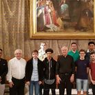 Students from All Saints Catholic School visited the pope in the Vatican where the pope wished to he