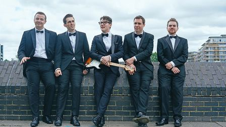 The cast of Buddy Holly and The Cricketers. Picture: Alan Howard