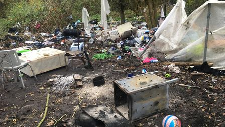 East Ham homeless camp. Picture: Alex Shaw