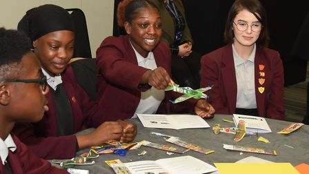 Riverside School pupils at the the STEM in aviation day. Picture: Ken Mears