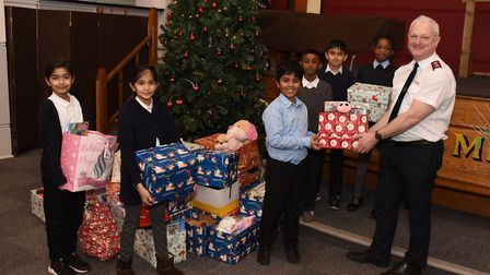 This marked the school's third 'reverse advent calendar'. Picture: Ken Mears