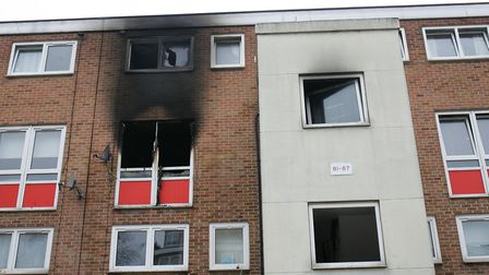The aftermath of the fire at Bradwell Avenue in Dagenham. Picture: PAUL BENNETT