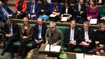 Prime Minister Theresa May makes a statement to the House of Commons. Photograph: UK Parliament/Jess