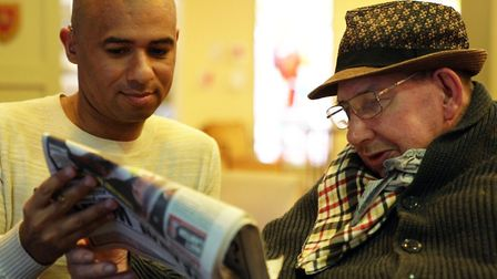 Gary (left) with Surbiton resident Bob. Picture: Royal Star and Garter Homes