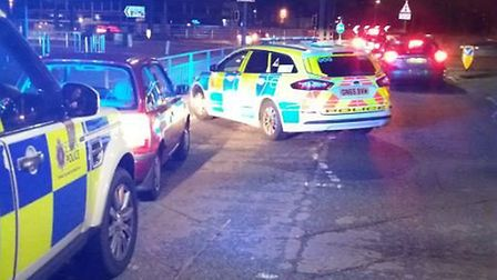 Officers stopped the Nissan Micra, which contained three teens thought to be involved with a theft o