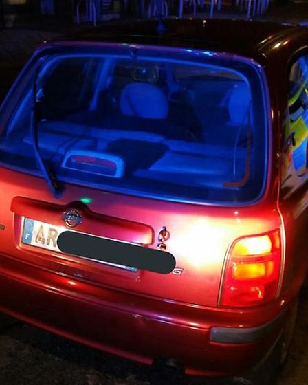 The car, which was being driven with false plates. Picture: ERPUS