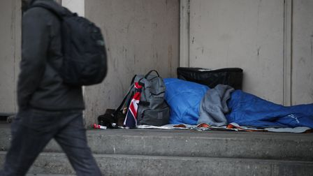 Homeless people in Barking and Dagenham have been offered a free flu vaccine. Picture: Yui Mok/PA