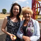 Lisa Adams, who spearheaded the campaign, with MP Margaret Hodge. Picture: Ken Mears