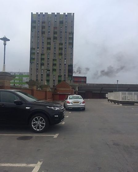 A fire broke out in Barking town centre on Saturday. Picture: SARAH HOBDEN
