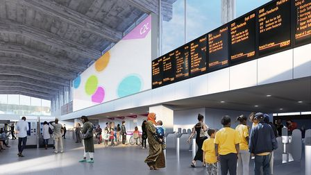 A computer generated image of the proposed concourse. Picture: Weston Williamson and Partners/c2c