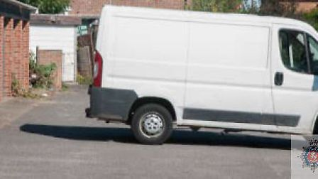 The van and cashbox were found abandoned nearby. Picture: Kent Police