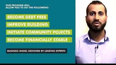 """A promotional video for the """"debt-free initiative"""" aimed at mosques in the UK. Picture: Submitted"""