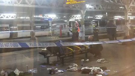 Barking station after the teenager was shot. Pic: Twitter@itsiwilliams