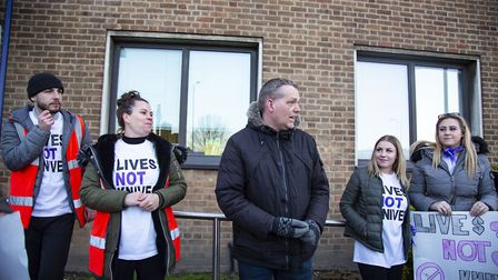 Council leader Darren Rodwell made a speech at the request of the protestors and said he would conti