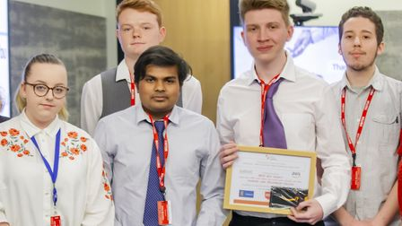 Barking and Dagenham College students were awarded a prize for putting together the best run project