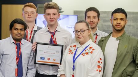 The students also won an award for the best group solution. Picture: CAREER COLLEGES TRUST