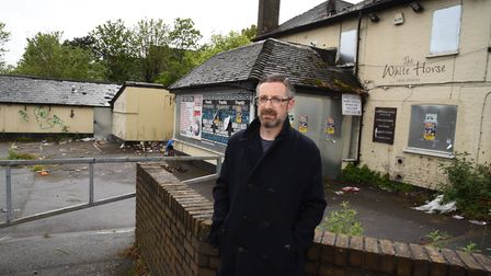 Jon Bevis is concerend that St Chad's Garden of Remembrance would lose privacy if the development of